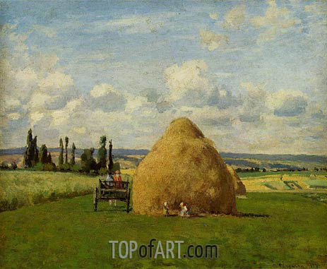 The Haystack, Pontoise, 1873 | Pissarro | Gemälde Reproduktion