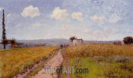 June Morning, View over the Hills of Pontoise, 1873 | Pissarro | Gemälde Reproduktion