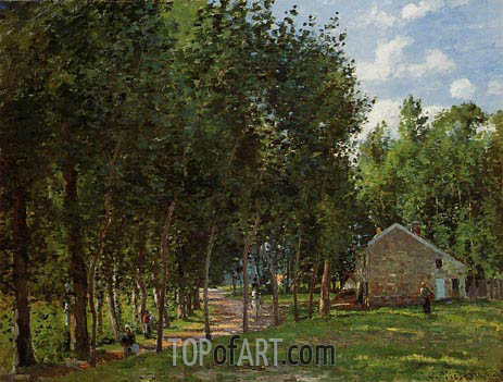 The House in the Forest, 1872 | Pissarro | Painting Reproduction