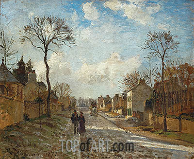 A Road in Louveciennes, 1872 | Pissarro| Gemälde Reproduktion