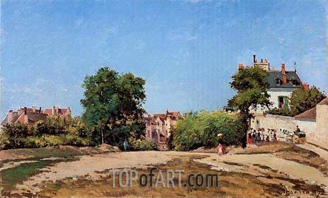 The Crossroads, Pontoise (Place du Vieus Cimitiere, 1872 | Pissarro | Gemälde Reproduktion