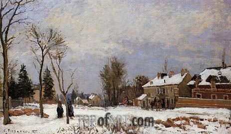 The Road from Versailles to Saint-Germain, 1872 | Pissarro | Gemälde Reproduktion