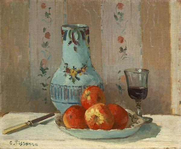 Still Life with Apples and Pitcher, 1872 | Pissarro| Painting Reproduction