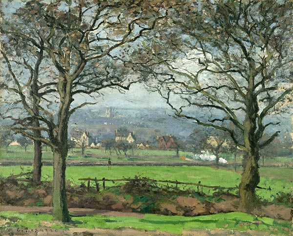 Near Sydenham Hill (Looking Towards Lower Norwood), 1871 | Pissarro | Gemälde Reproduktion