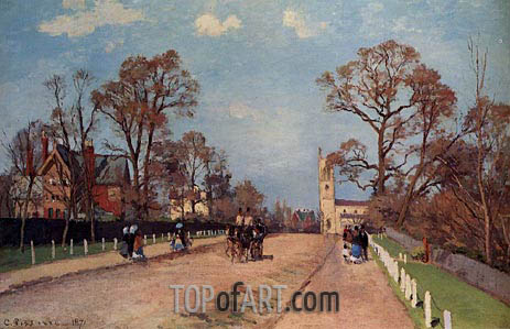 The Avenue, Sydenham, 1871 | Pissarro | Gemälde Reproduktion