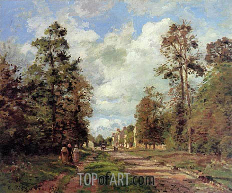 The Road to Louveciennes (Outskirts of the Forest), 1871 | Pissarro | Painting Reproduction