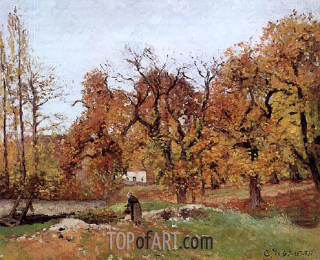 Autumn Landscape, near Pontoise, c.1871/72 | Pissarro | Painting Reproduction
