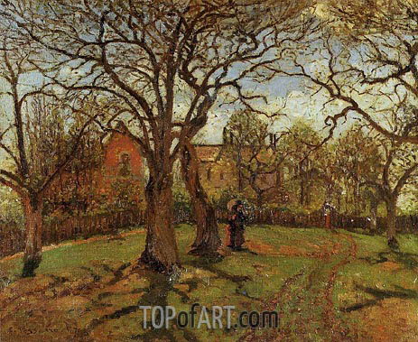 Chestnut Trees at Louveciennes, Spring, 1870 | Pissarro | Painting Reproduction