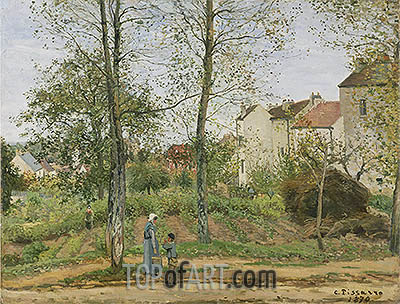 Landscape near Louveciennes, 1870 | Pissarro| Painting Reproduction