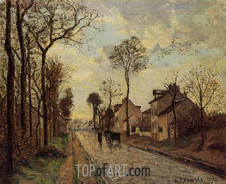 The Louveciennes Road, 1870 | Pissarro | Painting Reproduction