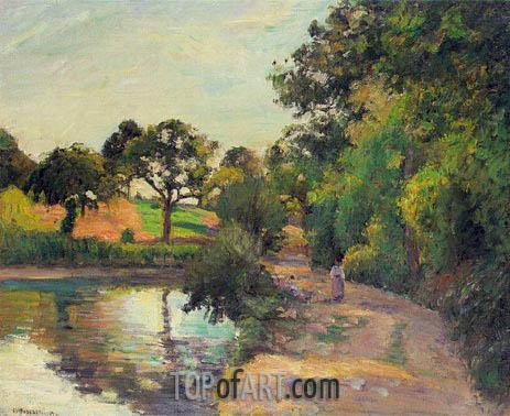 Pissarro | Pond at Montfoucault (Mayenne), 1874