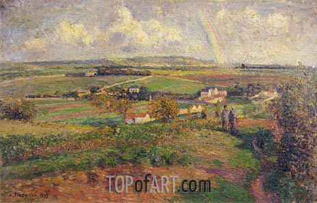 The Rainbow, 1877 | Pissarro | Gemälde Reproduktion