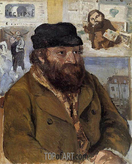 Pissarro | Portrait of Paul Cezanne, 1874