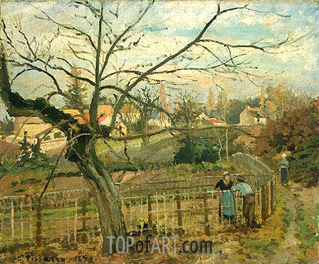The Fence, 1872 | Pissarro | Painting Reproduction