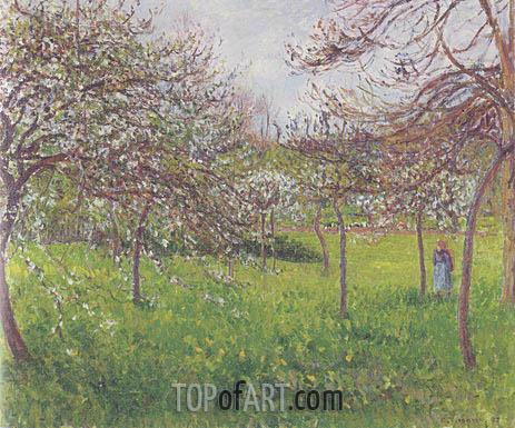 Pissarro | Temp Gris, Eragny (Pommes an Fleurs), 1897