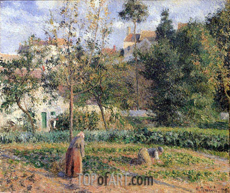 Vegetable Garden at the Hermitage near Pontoise, 1879 | Pissarro | Gemälde Reproduktion