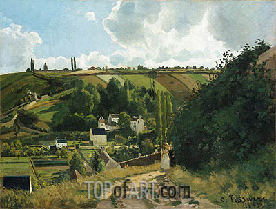 Jalais Hill, Pontoise, 1867 | Pissarro | Painting Reproduction