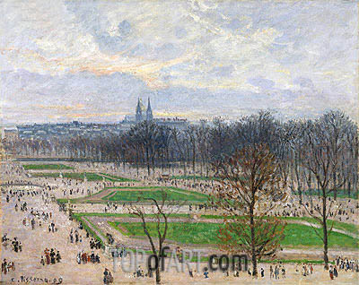 The Garden of the Tuileries on a Winter Afternoon, 1899 | Pissarro| Gemälde Reproduktion