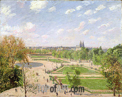 The Garden of the Tuileries on a Spring Morning, 1899 | Pissarro| Painting Reproduction