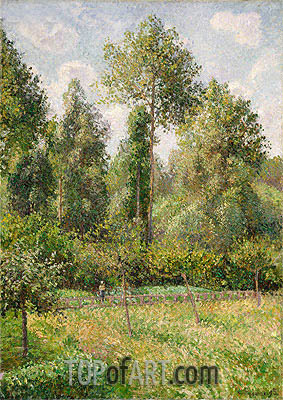 Poplars, Eragny, 1895 | Pissarro| Painting Reproduction