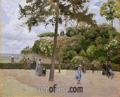 The Public Garden at Pontoise, 1874 | Pissarro| Painting Reproduction