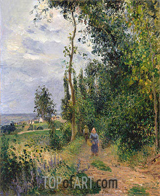 Cote des Grouettes, near Pontoise, c.1878 | Pissarro| Painting Reproduction