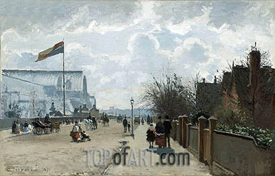 The Crystal Palace, 1871 | Pissarro | Painting Reproduction