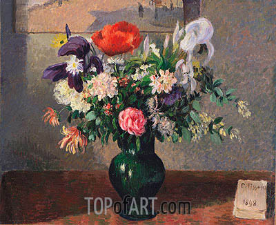 Bouquet of Flowers, 1898 | Pissarro | Gemälde Reproduktion