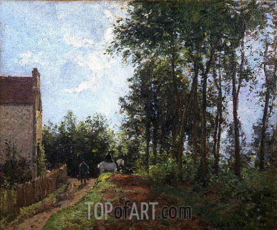 The Road Near the Farm, 1871 | Pissarro | Gemälde Reproduktion