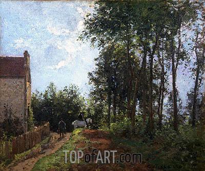 The Road Near the Farm, 1871 | Pissarro | Painting Reproduction