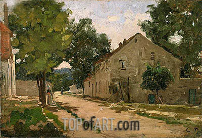 Road to Port-Marly, c.1860/67 | Pissarro | Gemälde Reproduktion