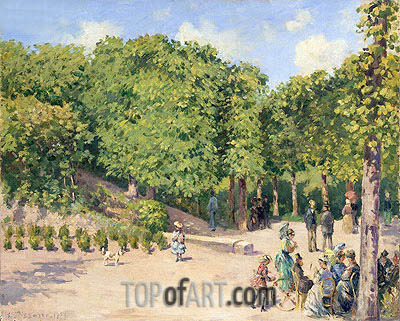 Town Park in Pontoise, 1873 | Pissarro | Painting Reproduction