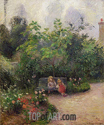 A Corner of the Garden at the Hermitage, Pontoise, 1877 | Pissarro | Painting Reproduction