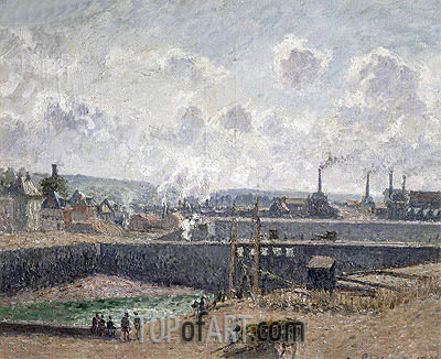 Low Tide at Duquesne Docks, Dieppe, 1902 | Pissarro | Painting Reproduction