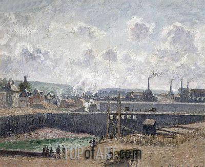 Pissarro | Low Tide at Duquesne Docks, Dieppe, 1902