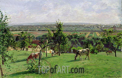 Hillside of Vesinet, 1871 | Pissarro | Painting Reproduction