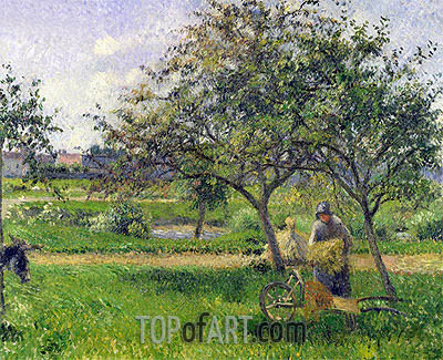 The Wheelbarrow, Orchard, c.1881 | Pissarro | Painting Reproduction