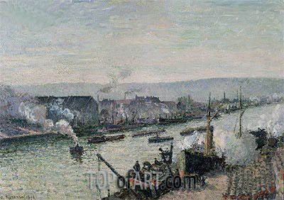 Saint-Sever Port, Rouen, 1896 | Pissarro| Painting Reproduction