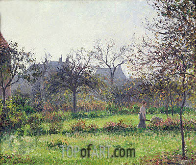 Morning Sun, Autumn, Eragny, 1897 | Pissarro | Gemälde Reproduktion