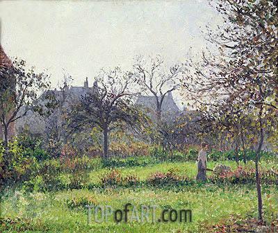 Pissarro | Morning Sun, Autumn, Eragny, 1897