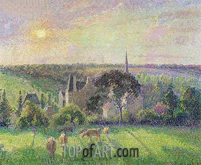Pissarro | The Church and Farm of Eragny, 1895