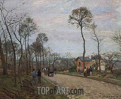 The Road from Louveciennes, 1870 | Pissarro | Gemälde Reproduktion