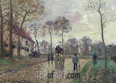 Pissarro | The Coach to Louveciennes, 1870