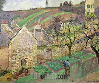 Pissarro | Hillside of the Hermitage, Pontoise, 1873