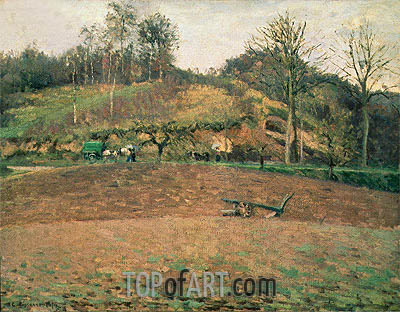 Ploughland, 1874 | Pissarro| Painting Reproduction