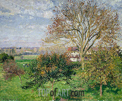 Autumn morning at Eragny, 1897 | Pissarro| Painting Reproduction