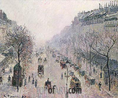 Pissarro | Boulevard Montmartre, 1897