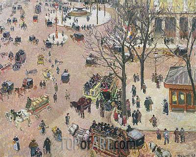 Pissarro | La Place du Theatre Francais, 1898