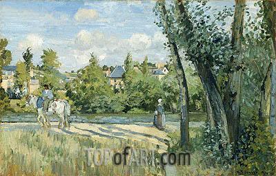 Pissarro | Sunlight on the Road, Pontoise, 1874