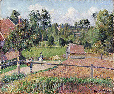 View from the Artist's Window, Eragny, 1885 | Pissarro | Painting Reproduction